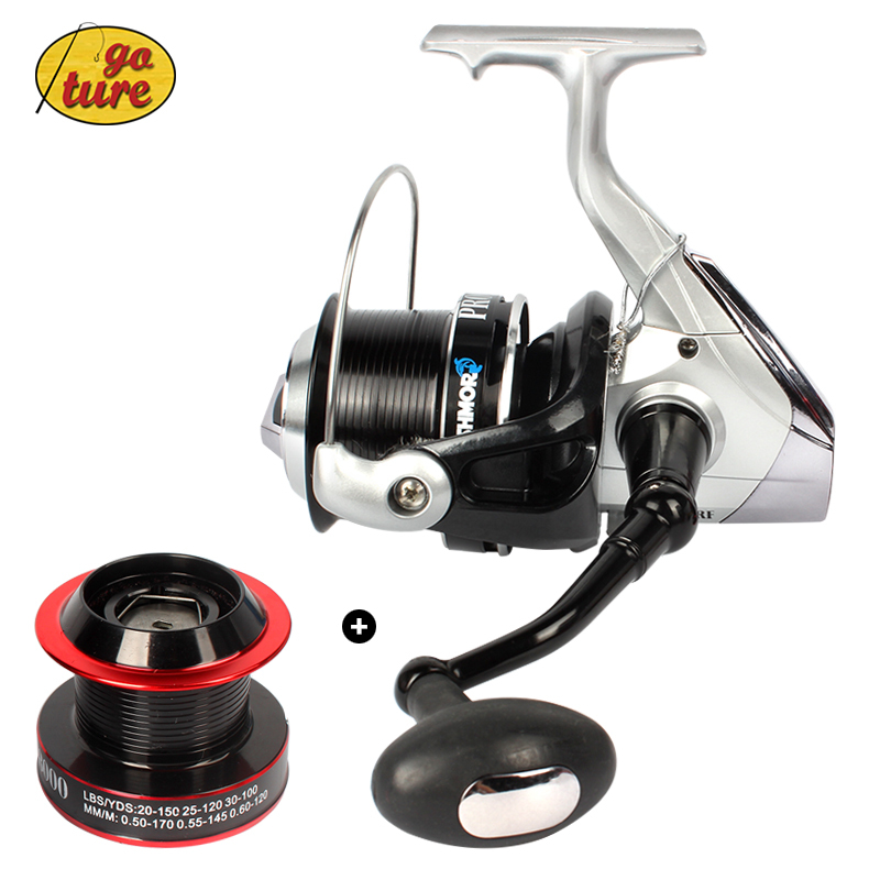 Goture 2015 Surf Reel XT6500 worm shaft system Saltwater Fishing Reel 10+1BB + one Aluminum Spare spool moulinet peche<br><br>Aliexpress