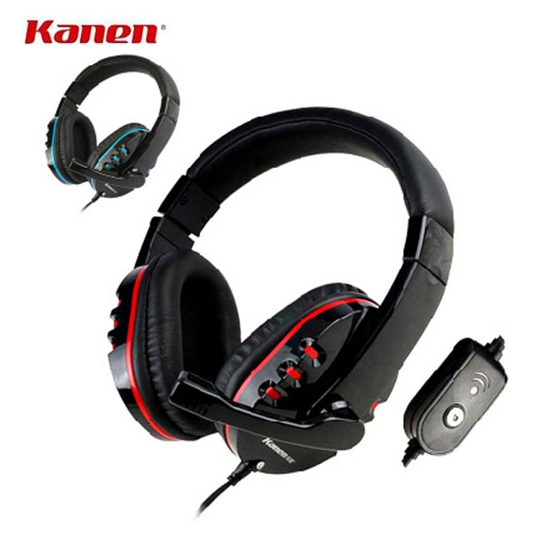 Kanen Gaming headset Subwoofer Studio 3.5mm Monitor Headband Headphones with Mic for Gamer PC Computer Skype Phone Auriculares(China (Mainland))