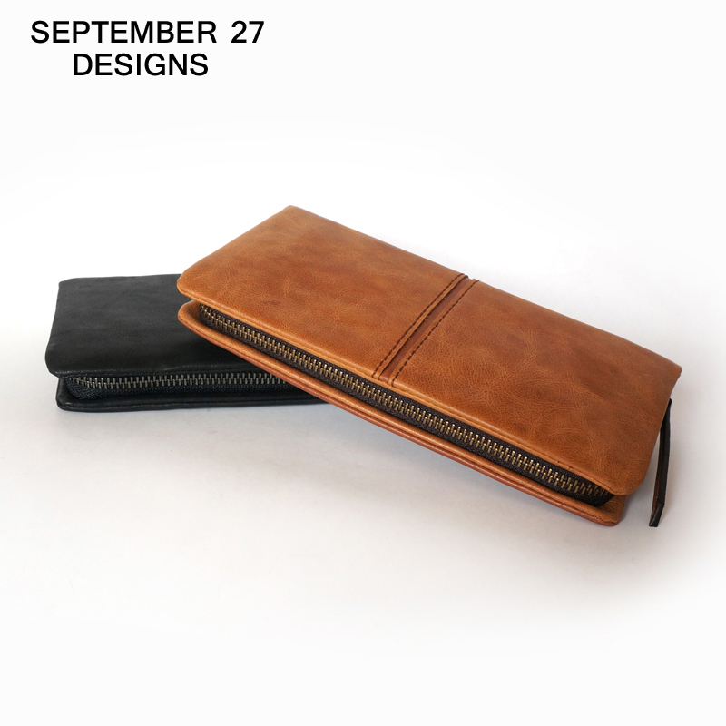 Top Brand Genuine Leather Wallets For Men Women Large Capacity Zipper Clutch Purses Cell Phone Passport Card Holders Notecase(China (Mainland))