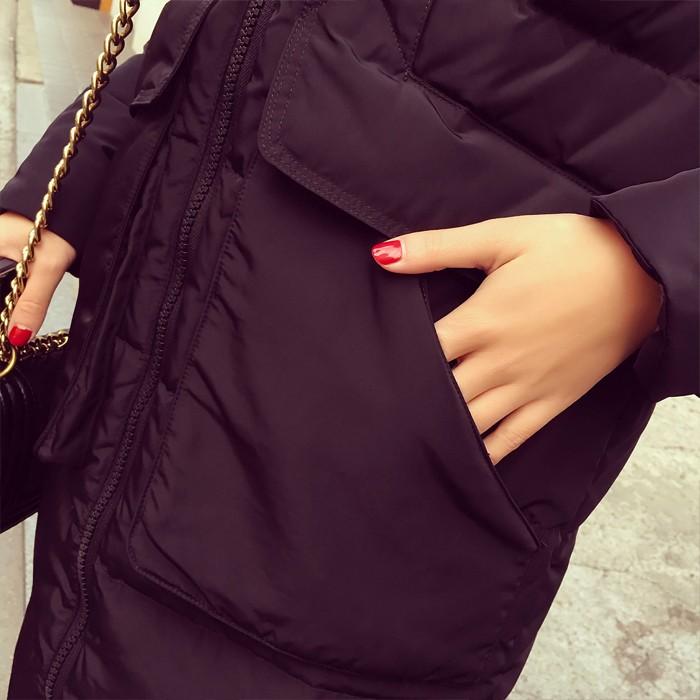 Скидки на Горячие продажа 2016 женская мода пальто Зимнее Пальто женщин Ультра длинные хлопок Женщины Куртка с Меховым Капюшоном плюс размер xl-5xl