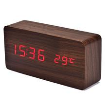 alarm clock Temperature Display Sounds Control Electronic Desktop LED Alarm Clock(China (Mainland))