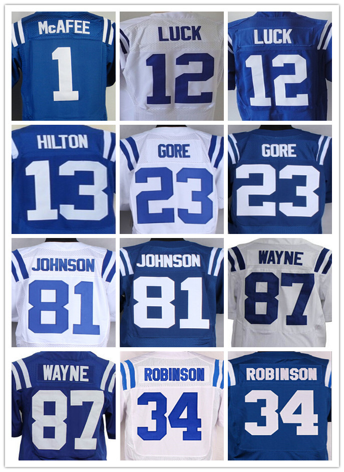1 Pat McAfee 12 Andrew Luck 23 Frank 81 Andre Johnson 87 Reggie Wayne(China (Mainland))