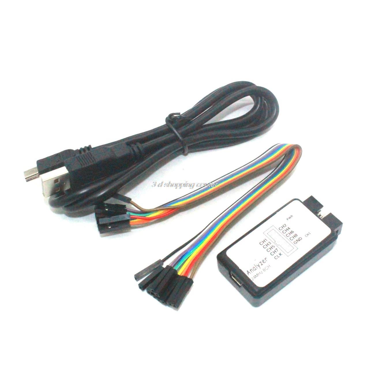 1sets New Arrival USB Logic Analyze 24M 8CH, MCU ARM FPGA DSP debug tool(China (Mainland))