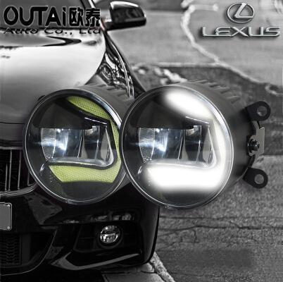 Фотография High Power Highlighted Car Fog lamps lens Fog Light LED daytime running light For Lexus IS250 IS200 IS300 2pcs