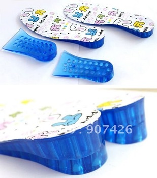 free shipping wholesale heighten insoles / honeycomb gel insoles 18pair/lot