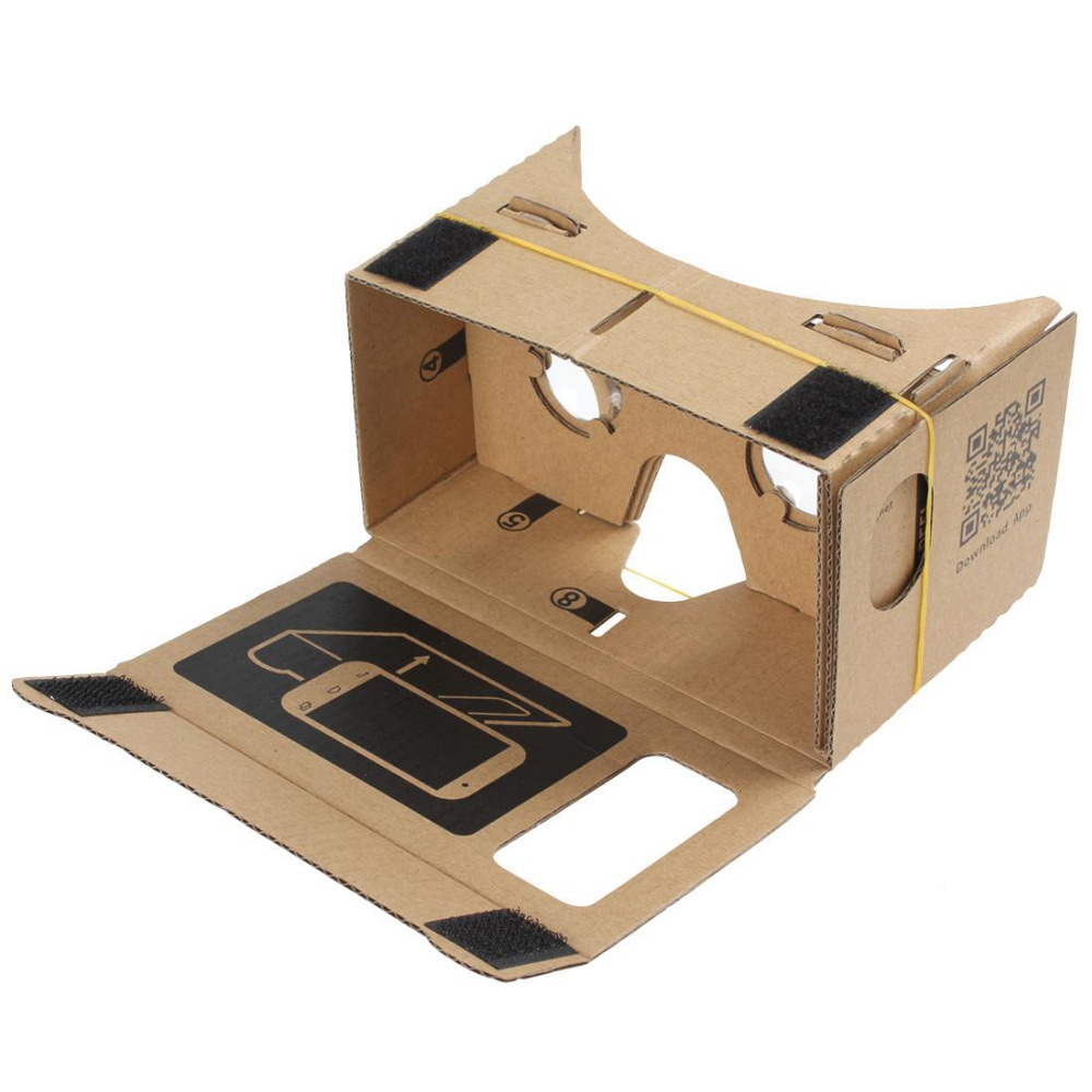 Hight Quality Ultra Clear DIY Google Cardboard VR Virtual Reality 5 5 Mobile Phone 3D Viewing