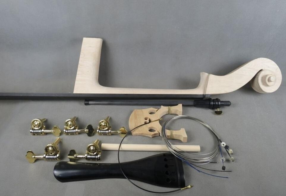 5 strings 3/4 Upright Bass part:neck,fingerboard,bridge,tailpiece,pegs etc(China (Mainland))