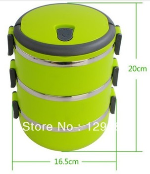 Stainless steel lunch box Three Layer sealed lunchbox with handle insulation Children Lunch Box Food Container For Kids