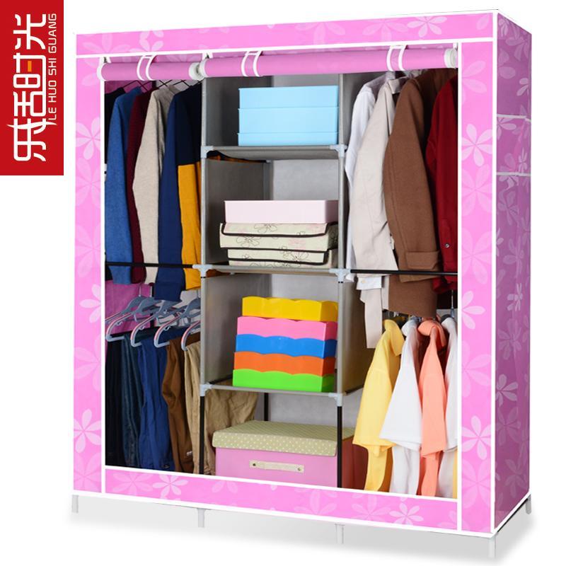 YoHere furniture bedroom non-woven wardrobe folding fabric wardrobe closet clothes storage cabinet portable wardrobe hanging(China (Mainland))