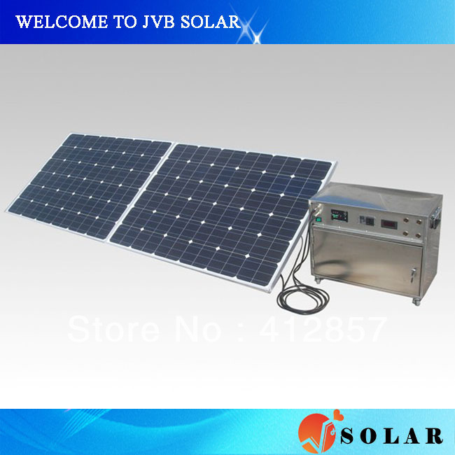 Promotion 360w photovoltaic solar panel system with controller and inverter for home use(China (Mainland))