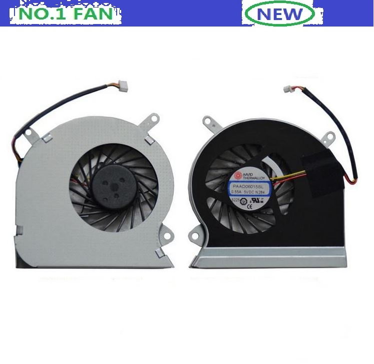 Free shipping  New laptop CPU Cooling Fan for MSI GE6016GA 16GC series notebook PAAD06015SL DC 5V 0.55A 3wire <br><br>Aliexpress