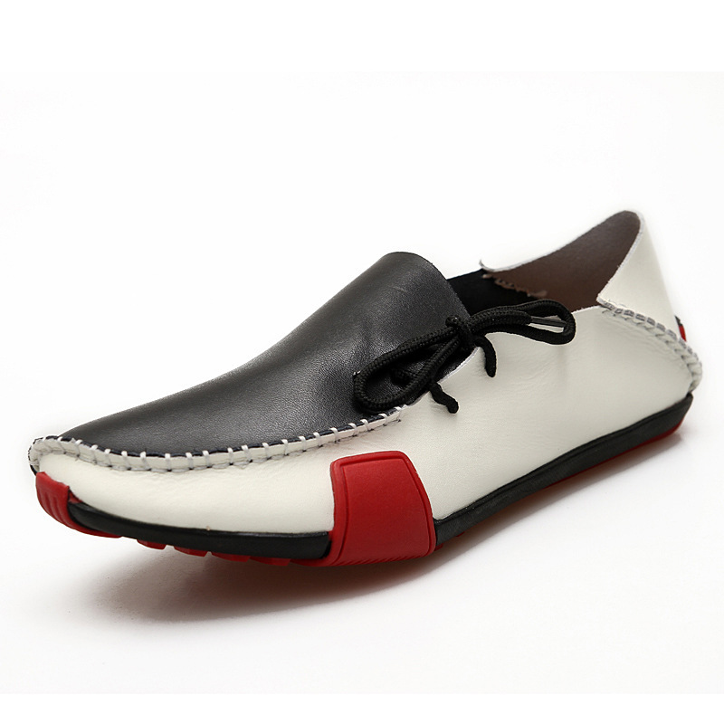 2015 spring and summer trend of casual men's hand-stitched leather men's shoes breathable and comfortable shoes