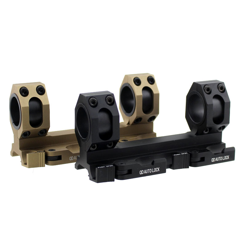 Tactical Quick Release Scope Ring Mount 25mm-30mm Dual Ring QD Auto Lock Picatinny Weaver 20mm Rail For Rifle Shotgun(China (Mainland))