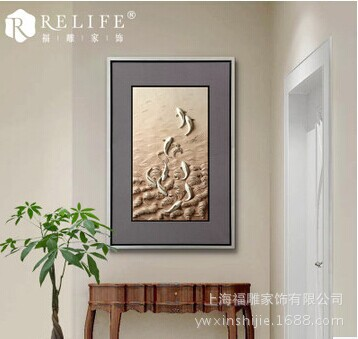Здесь можно купить  Fu carved furniture special wholesale resin relief paintings painted restaurant entrance framed painting K81201 duck  Аппаратные средства