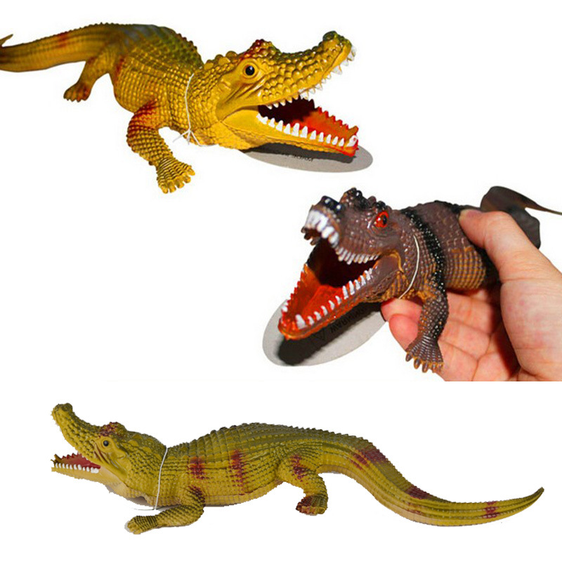 Strange new plastic simulation crocodile toy,sound small alligator,BB called Tricky vent small toys<br><br>Aliexpress