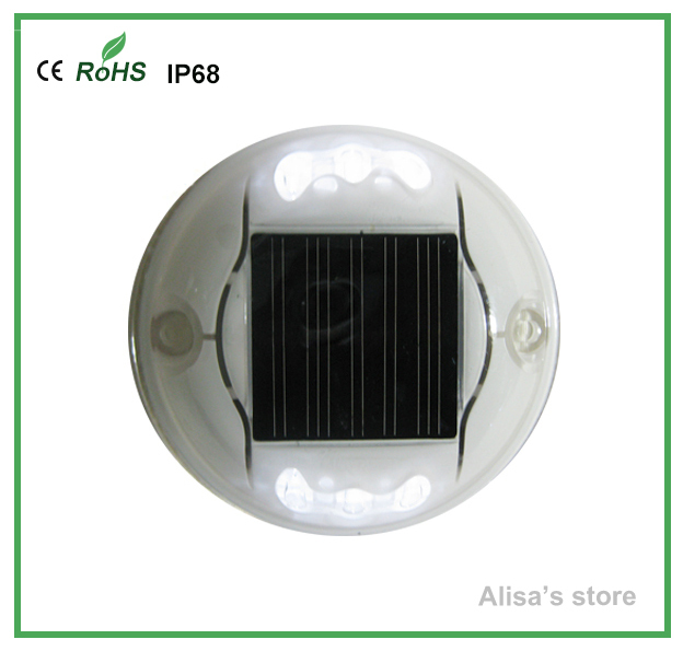 (16pcs/lot)LED solar road stud ABS traffic safetly solar light with red white yellow blue green(China (Mainland))