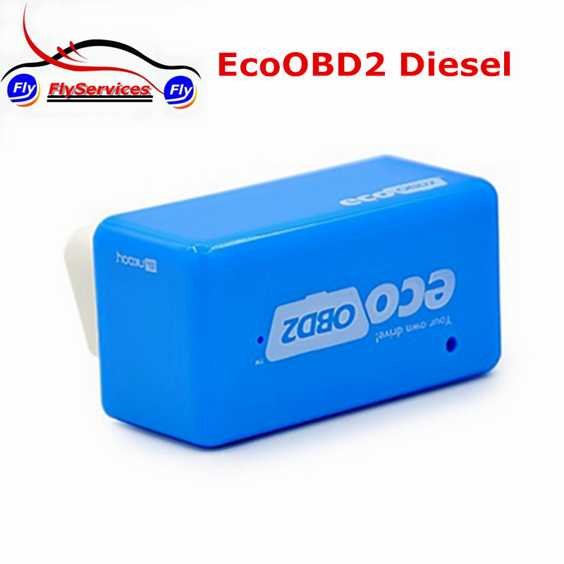 Plug And Drive EcoOBD2 For Diesel Cars Performance Chip Tuning Box More Power / More Torque Fast Shipping(China (Mainland))