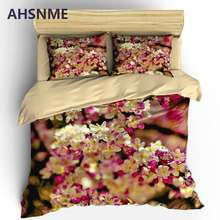 AHSNME Spring Coming Bedding Set Daisy Flowers Duvet Cover Floral Quilt Cover + Pillowcase 2/3pcs King Bed Sets(China)