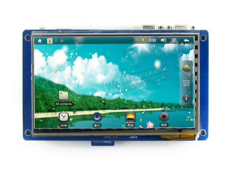 "x210ii Package C # S5PV210 SAMSUNG ARM Cortex A8 Development Board + 7.0"" capacitive LCD(China (Mainland))"