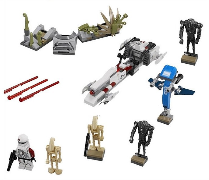 SY311 189pcs Star Wars Battle on Saleucami Clone & Battle Droids Blocks Set with BARC CLONE TROOPER Minifigures toys(China (Mainland))