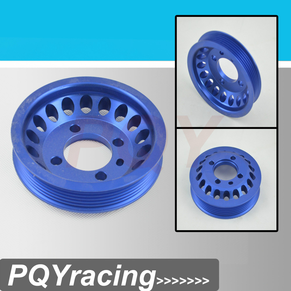 VR Racing Store LIGHT WEIGHT CRANK PULLEY For Mitsubishi EVO 7 8 9 UNDERDRIVE LIGHTWEIGHT CRANK