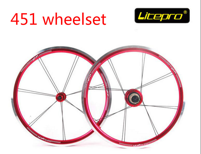Litepro top quality 20inch 451 folding bike V brake wheelset bmx wheels 451 bicycle wheelset bmx parts(China (Mainland))