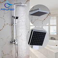 Factory Retail Bathroom Shower Mixer Faucet with 8 ABS Shower Head Chrome Finish Water Taps