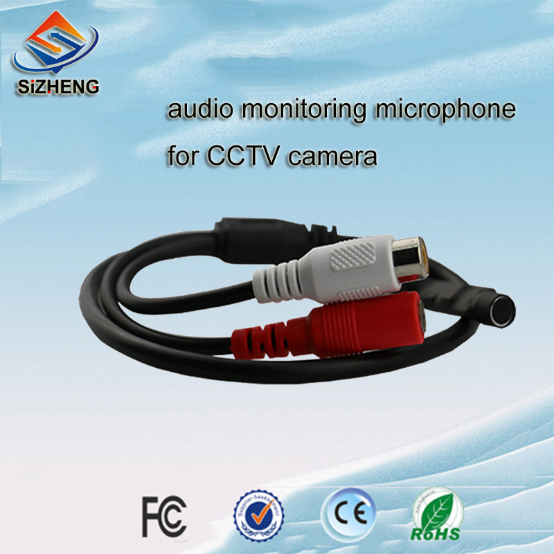 Free shipping mini spy microphone for CCTV security camera audio monitoring(China (Mainland))