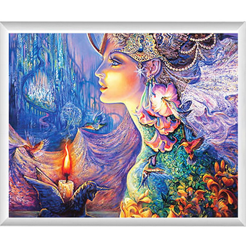 2016 DIY 5D Diamond Cross Stitch fantasy image Painting Home Decor wall art for living room hotel & office Best GIft for Family(China (Mainland))