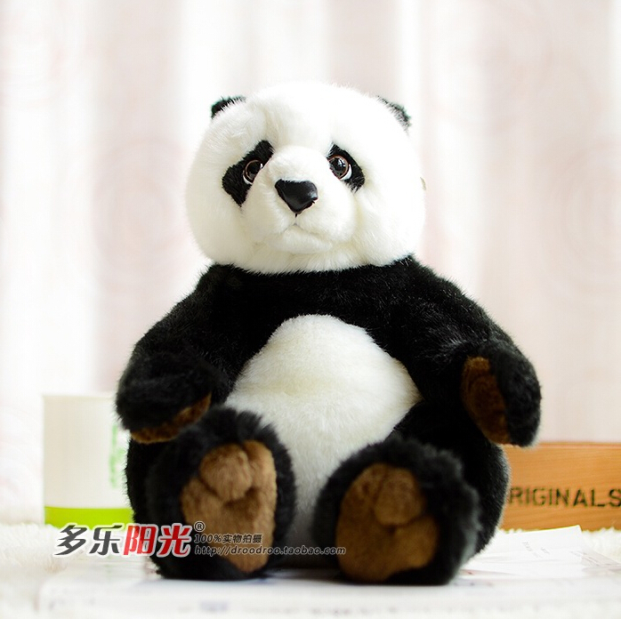 WWF Queen Kawaii Sitting Panda Plush Toys Simulation Animals(China (Mainland))