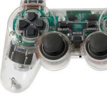 Nuovo 2.4 ghz trasparente doppia scossa wireless sixaxis game controller gamepad joystick con 2.4 ghz ricevitore per ps2/psone  (China (Mainland))