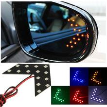 1pcs Universal Car Amber Arrow Panel Yellow 14 SMD LED Car Side Mirror Rear View Indicator Turn Signal Light Lamp