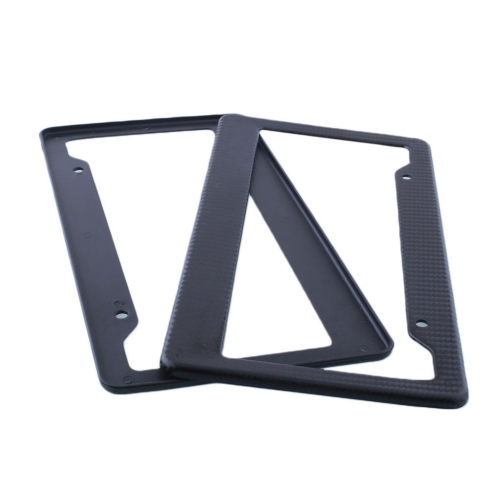 OEM 2Pcs Carbon Fiber Custom License Plate Bracket Frame Cover For Auto Car(China (Mainland))
