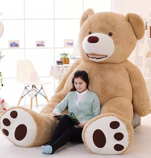 2.6m 3.4m Size Huge Size Teddy Bear Fat Bear Plush Toy Christmas Gift Teddy Bear Doll Finished Stuffed Bear DOll(China (Mainland))