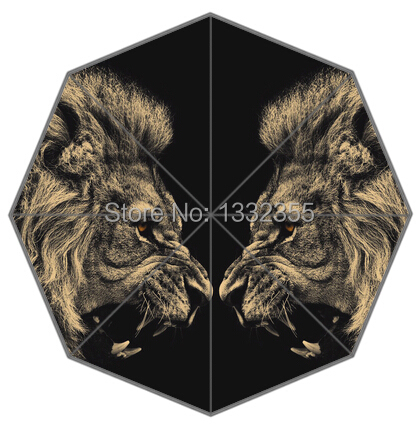 Novelty Items umbrellas Printed with two yellow lions wholesale and retail Beach umbrellas(China (Mainland))
