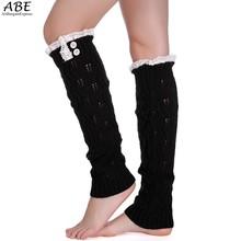 Womens Fashion Winter Knit Crochet Knitted Leg Warmers Legging Lace Boot Cuffs Cover Drop Shipping B2# 41 - Ali Bargain Express store