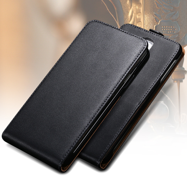 For Galaxy Note 3 Black Case Luxury Flip Genuine Leather Case For Samsung Galaxy Note 3 N9000 N7200 Stand Wallet Card Slot Cover(China (Mainland))
