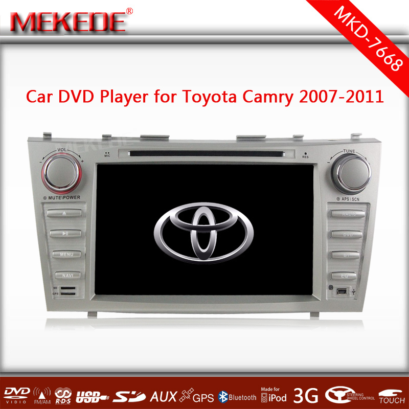 Silver color Special CAR DVD player/ tape recorder/cassette player for Toyota Camry 2007 - 2011 with full functions +map gift(China (Mainland))