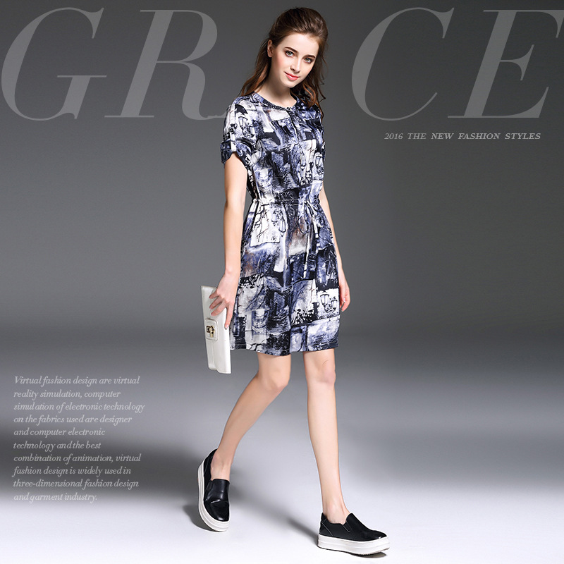 The new spring and summer fashion slim lace dress modern printingОдежда и ак�е��уары<br><br><br>Aliexpress