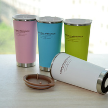 400ml Thermos Coffee Cup Double Wall Stainless Steel Thermo Mug Women Milk Cup Insulation Against Hot