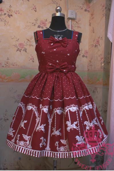 Hot Sale Sweet Japanese Princesss Lolita font b Dress b font Brown Cotton JSK font b