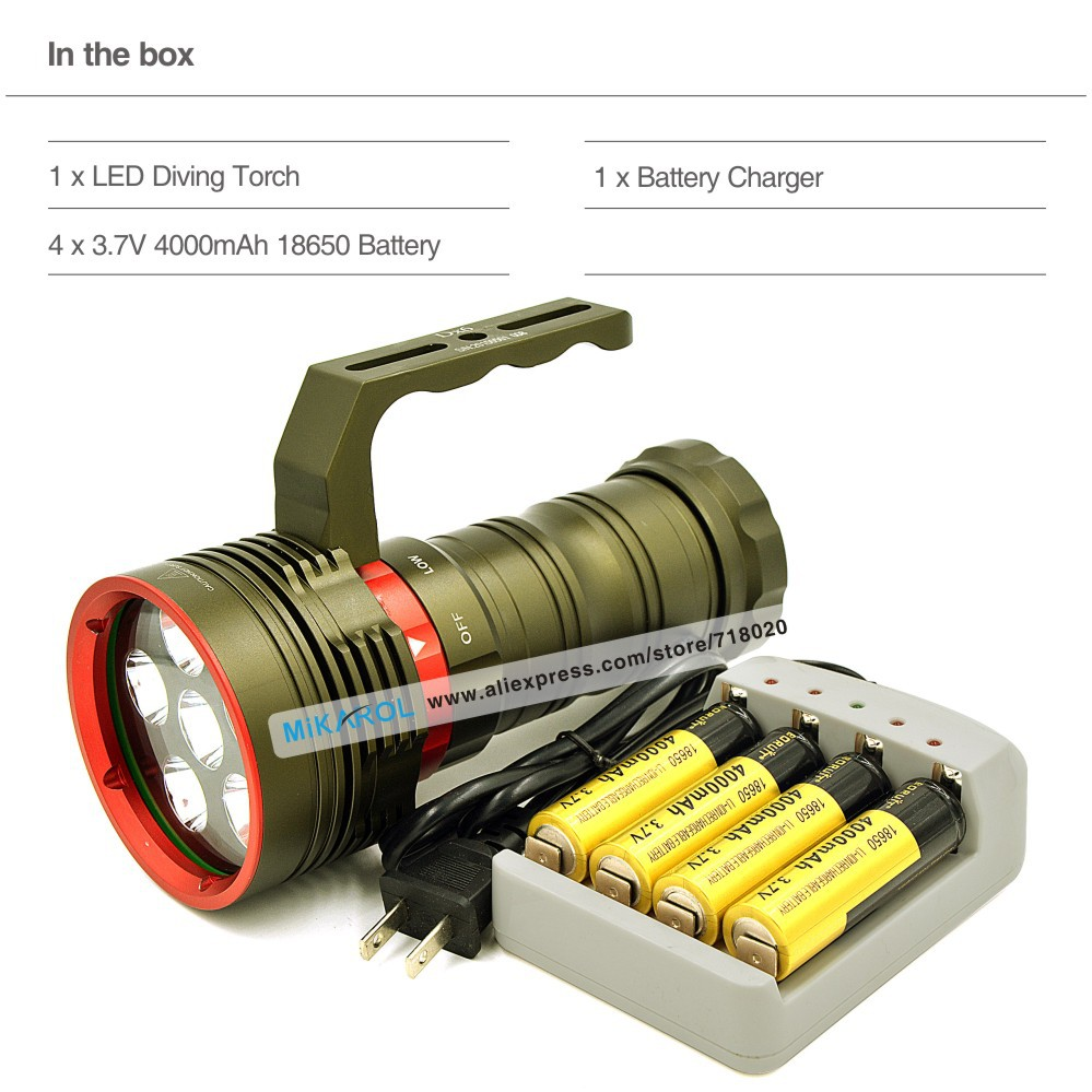 High Power Lantern LED Light Torch 8000 Lumen Lampe Torche Rechargable with 6X CREE XM L2 LED Lamp Torch Waterproof(China (Mainland))