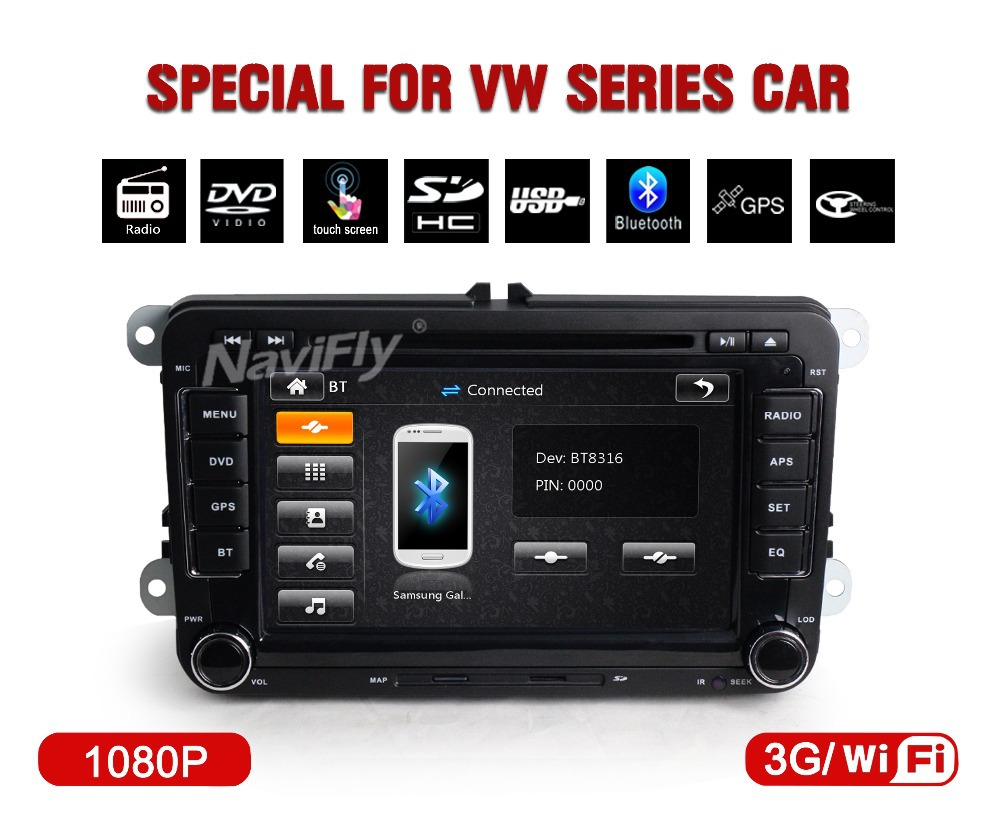 3G wifi+Factory price!+CAR DVD/cassette /recorder palyer for VW/SAGITAR//POLO/BORA/GOLF V with DVD,RADIO,GPS,IPOD,BT.USB +map(China (Mainland))