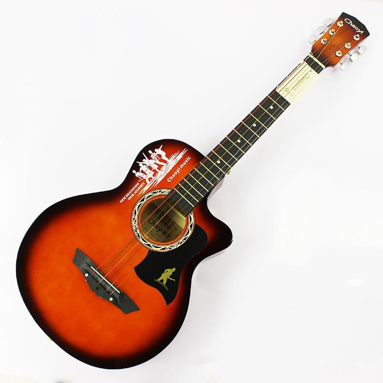 2016 NEW 38 Acoustic guitar 38-3 high quality guitarra Musical Instruments with guitar strings<br>