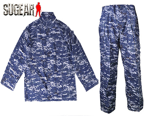Airsoft Special Force Combat Zipper Uniform Shirt&amp;Pants V3 Navy Blue Clothes For Hunting Shooting Paintball Outdoor Ghillie Suit<br>