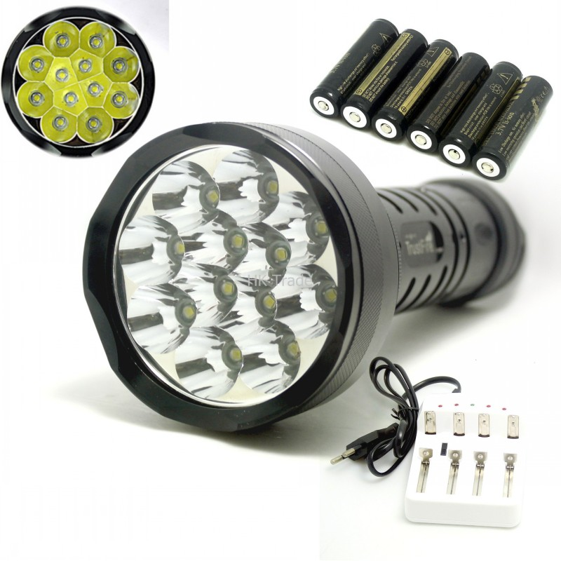Super power Light Bright 20000Lm 12xCREE XM-L L2 T6 LED Tactical Flashlight Torch 12T6 Camping light t+6X18650 battery+charger<br><br>Aliexpress
