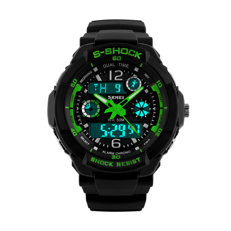 Sport Watches For Men Military Wristwatches S-SHOCK Fashion Wrist Watches Dual time Digital Analog LED Watches Reloj Xfcs 2015(China (Mainland))
