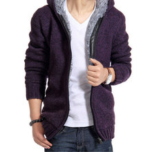 2015 New Arrival Winter Style Men Cardigans Sweater Keep Warm Thicker Casual Wear Outdoors Outwear Y00143(China (Mainland))