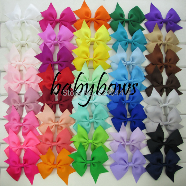 Гаджет  3.5 inch grosgrain ribbon hair bows,children hair accessories,baby hairbows girl hair bows WITH clip-50pcs/lot-Free Shipping None Одежда и аксессуары