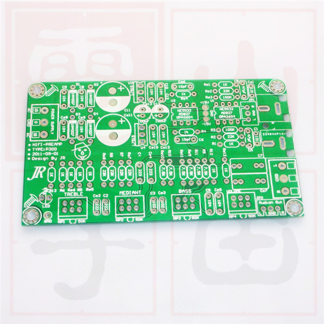 2.0 channel preamp PCB board NE5532 bass tone tuning plate dual audio encoding tone plate pcb bass for amplifier(China (Mainland))